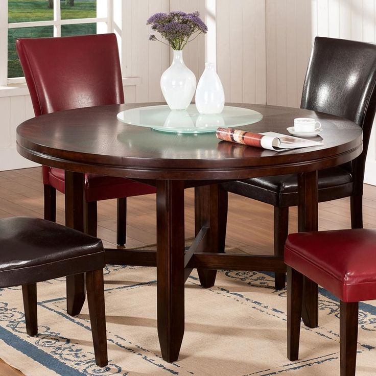 Round Contemporary Dining Room Sets 180 best tables with built-in lazy susans images on pinterest