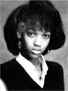 Tyra Banks, pictured in 1988 during her freshman year at Immaculate Heart High School in Los Angeles.