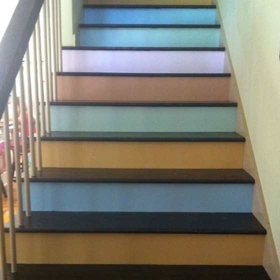 By Paula Parker On Painted Basement Steps Floors Stairs Nooks