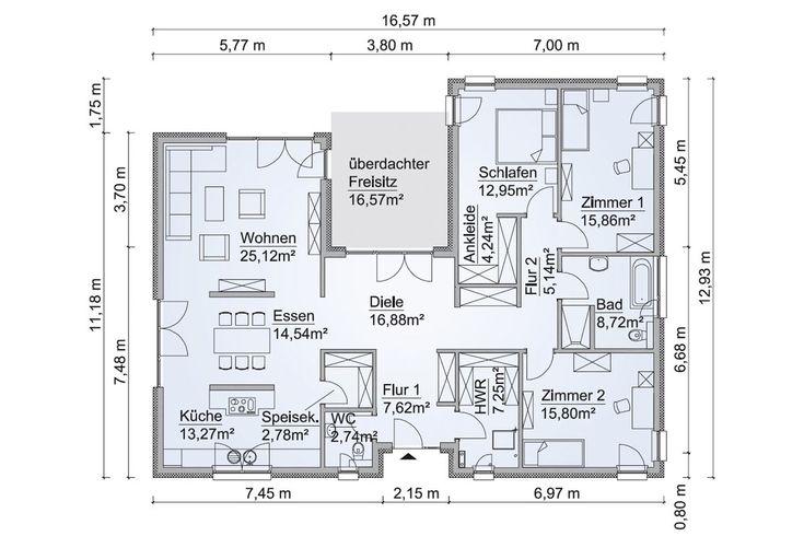 Scan-Haus Fertighaus SH 169 WB Variante A Grundrisse
