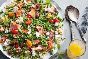 Ham and barley salad with marmalade dressing