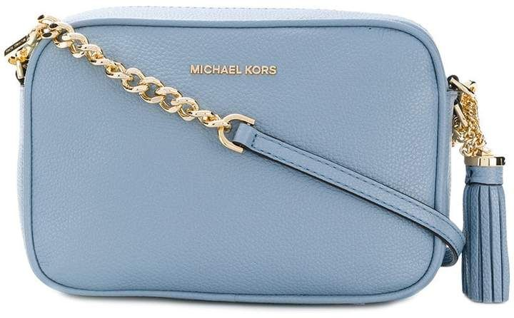 Beautiful baby blue Ginny crossbody bag from Michael Kors