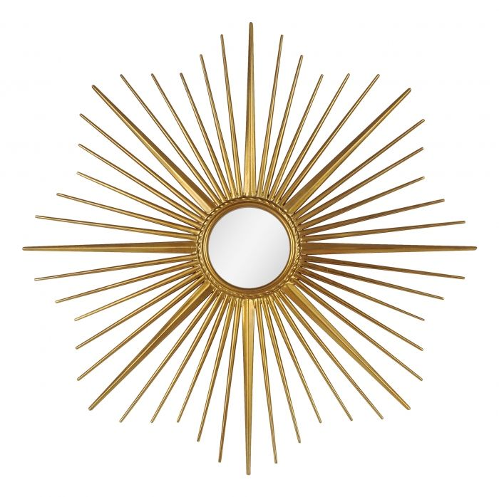 "Gatsby Gold Sunburst Mirror. Sunburst mirror, gold Roaring Twenties style. 34x34"" Art Deco, Hollywood Regency.  DesignNashville.com shipping to all locations."