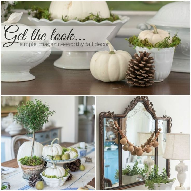 Get the look - a guide to simple, magazine-worthy fall decorating with natural elements
