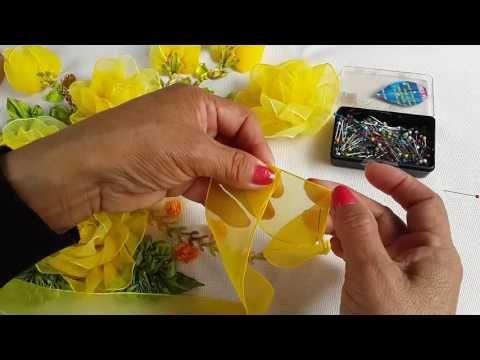 hoja facil y bonita de hacer para tus manualidades encintas ( liston)