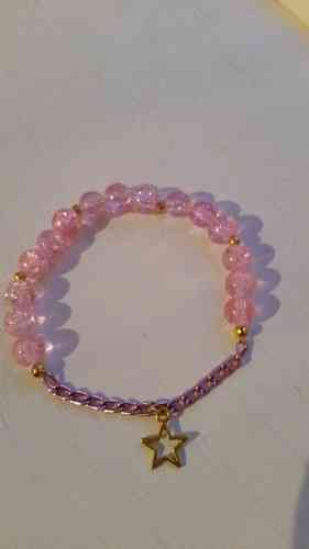 Pink bracelet with star