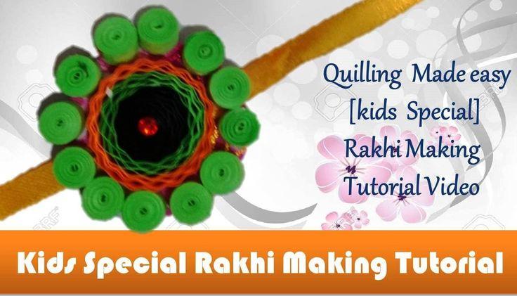 DIY: Rakhi Making - Paper Quilling Green & Orange Rakhi video tutorial - Raksha Bandhan Specia