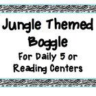 """Use this """"Jungle Boggle"""" word work game in your safari or jungle themed classroom! Scramble letters and velcro them to the wall in a 4x4 array. Dur..."""