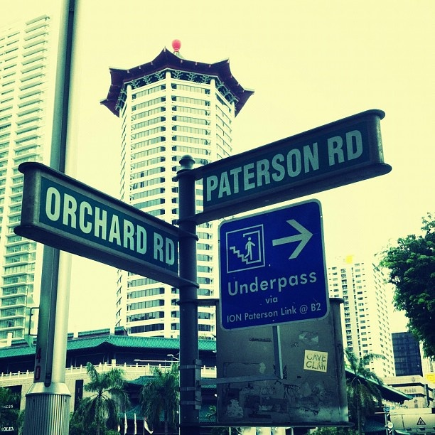 Street signs in Singapore