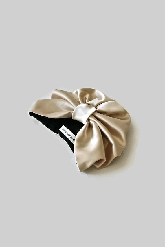 No holiday is complete without a bit of luxe glam! The stretch satin mini turban is just that! Gorgeous satin with a soft matted sheen gives a