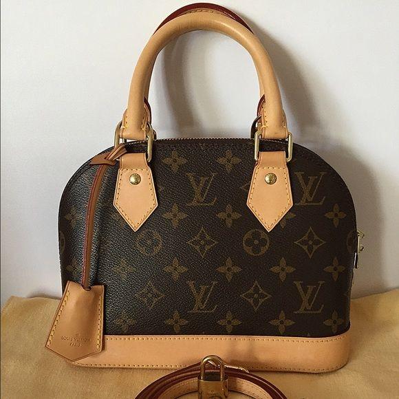 Authentic Louis Vuitton Alma Bb Bag Louis Vuitton Signs