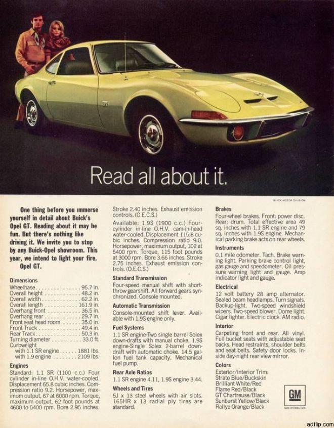 General Motor's Opel GT (1970)