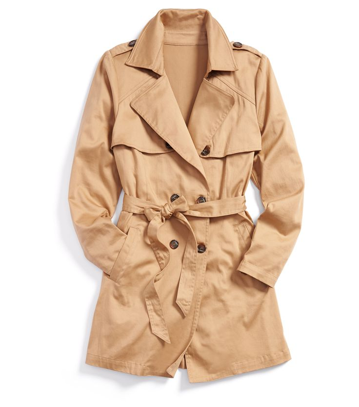 Stitch Fix Winter Essentials: A trench is timeless and sophisticated. Wear it over a wrap dress for work or on the weekend with denim and a comfy knit.