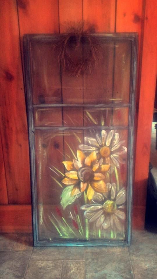 Hand painted screen door. by amcattic on Etsy