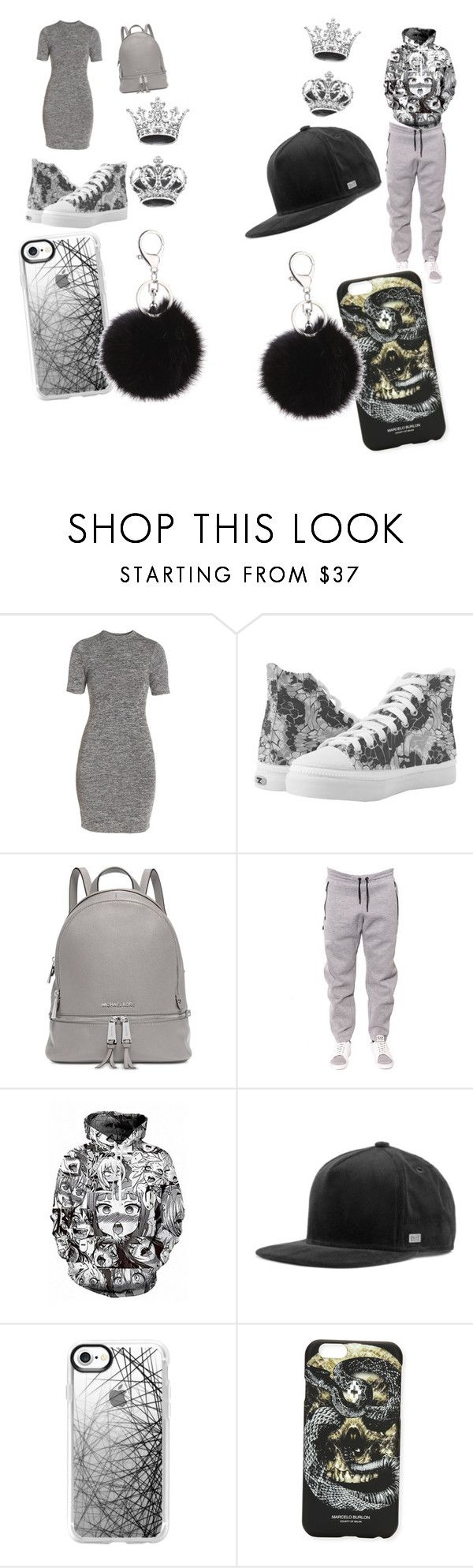 """""""ME ND MY BABY KENDALL'S FIRST DATE OUTFIT #GOALSS_ASF😍😘💖💍💎👑"""" by mekoo14 on Polyvore featuring French Connection, Michael Kors, EA7 Emporio Armani, WithChic, MELIN, Casetify and Marcelo Burlon"""