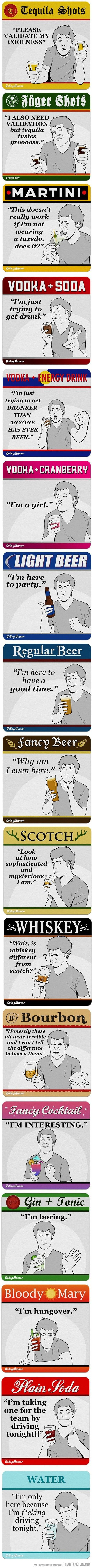 The true meaning of your adult beverage choice: haha