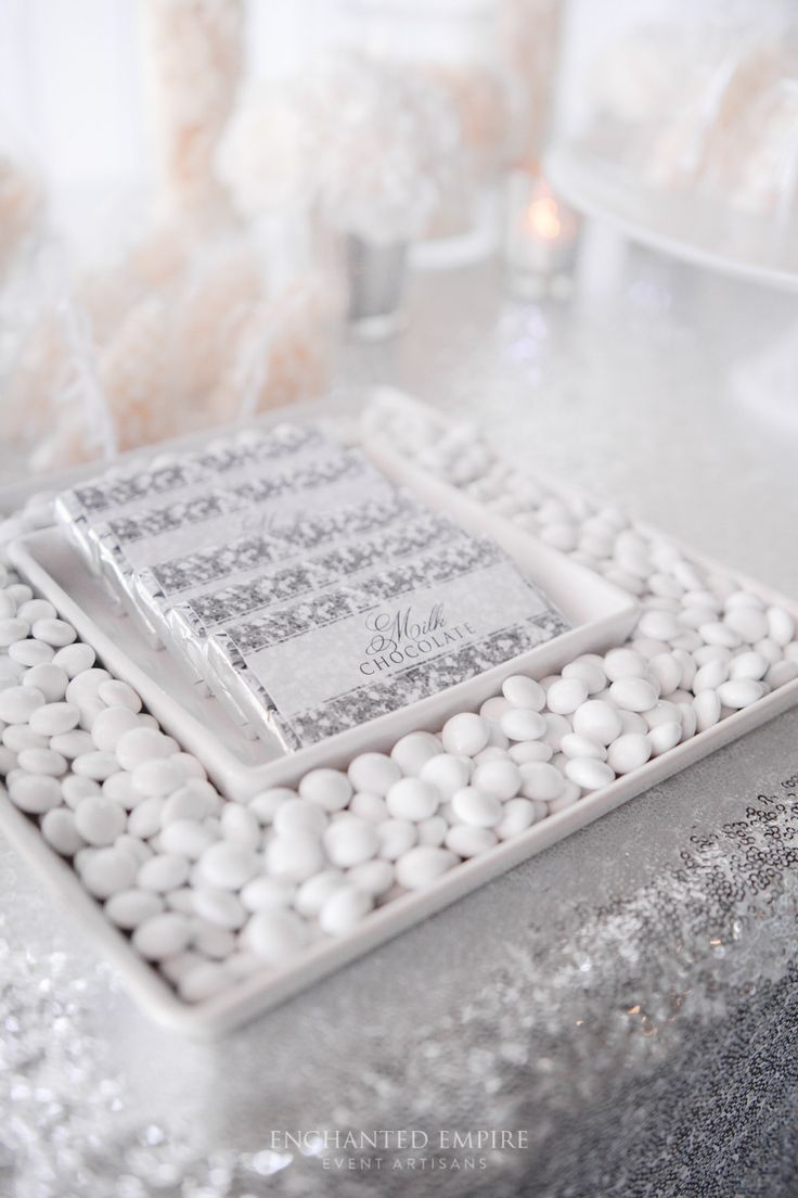 27 best Silver Wedding Sweet Station images on Pinterest | Chocolate ...