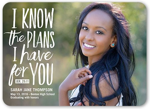 plans and dreams 5x7 graduation announcements cards college