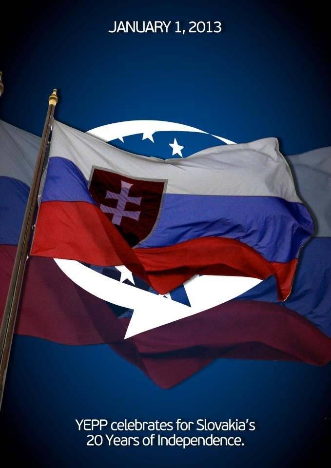YEPP banner for 20 years of Slovakia