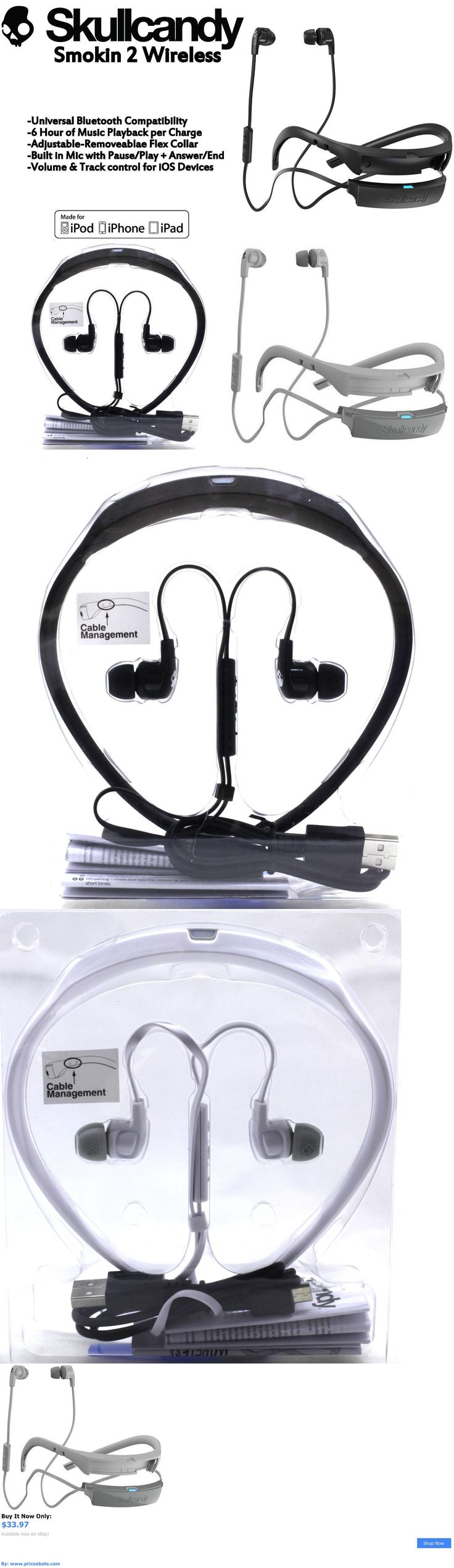 electronics: New Skullcandy Smokin Buds 2 Wireless Bluetooth Earphones With Mic Black White BUY IT NOW ONLY: $33.97 #priceabateelectronics OR #priceabate