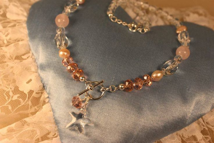 Bridal Jewelry. Rose Quartz, Sterling silver. Handmade by Goldsmith Sanna Hytönen, Finland. http://www.kultaseppasannahytonen.com/