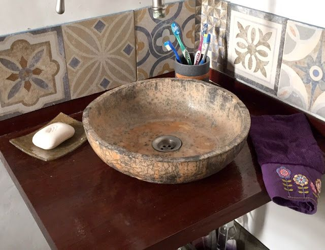 Baño renovado - Bacha ceramica, Raku, calcareos, hidraulicos - Mamy a la obra