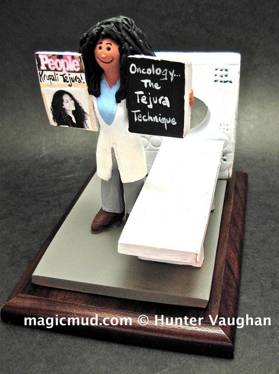 Oncology Doctor's Gift  www.magicmud.com    1 800 231 9814    magicmud@magicmud.com $225  Personalized #Medical Gift Figurines, custom created just for you!    Perfect present for all #Doctors, a  heartfelt gift for birthdays, graduations, anniversaries, new office openings, retirement, as a thank you to a great #physician  Surgeon, cardiologist, therapist, nurse, ob-gyno, podiatrist, psychiatrist, nephrologist, urologist, radiologist, any occupation made to to order by #magicmud
