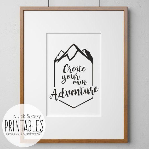 Wandbild Abenteuer Create your own adventure