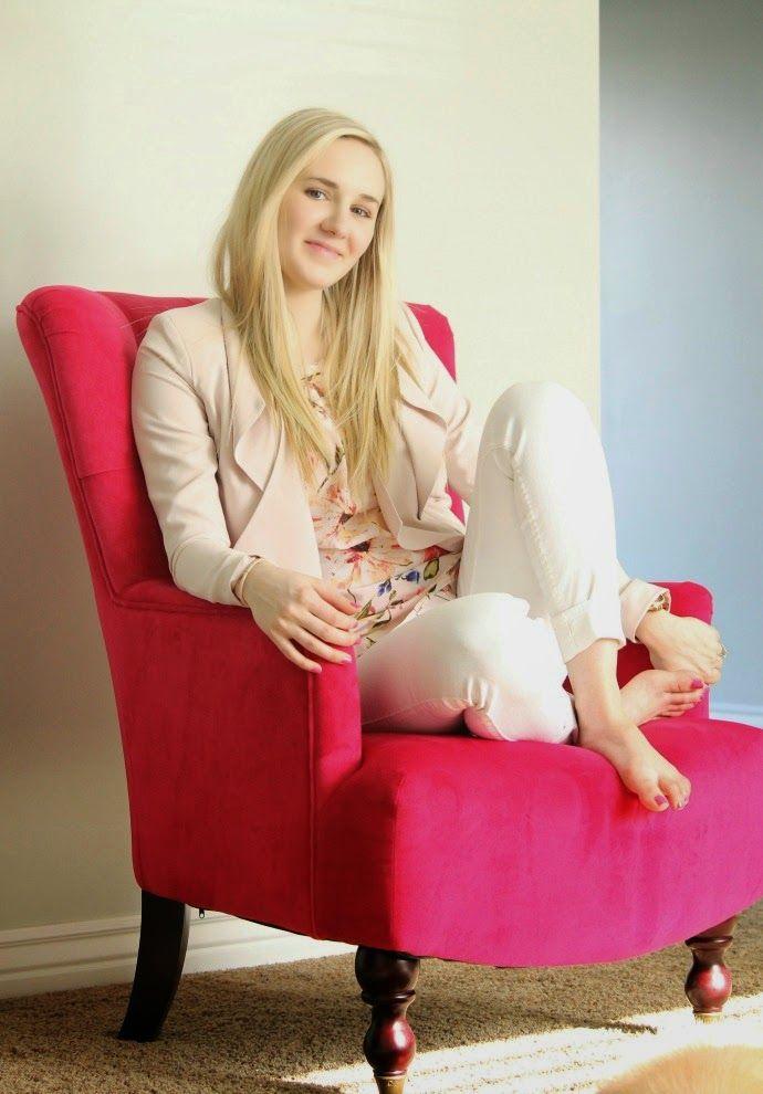 pink chair .. home decor .. pregnancy announcement