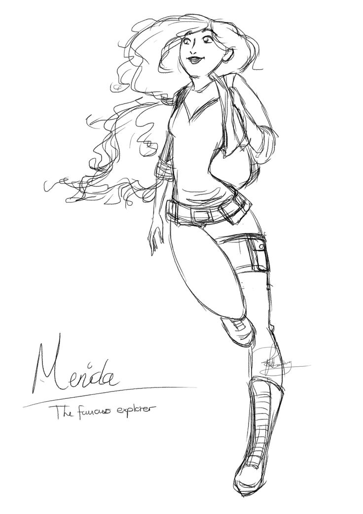 """I Googled some general drawing poses and found this one which lead to this sketch, which lead to a small """"story"""". (Modern) Merida has always been the adventurous type, since she was but a small girl her mother could not keep her curiosity and love of..."""