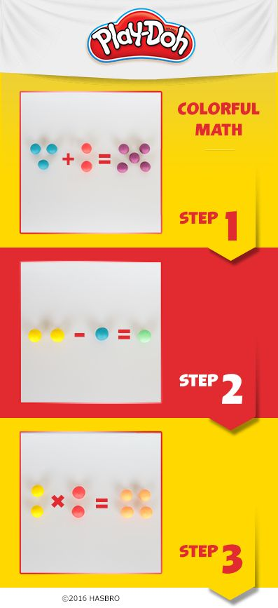 Want a colorful way to help your kids build their math skills? Use Play-Doh compound for simple addition and subtraction problems. Head back to school with Play-Doh compound teaching tools and activities.