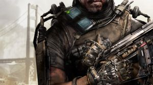 Preview wallpaper call of duty, advanced warfare, weapons, soldiers, exoskeleton, armor 1920x1080