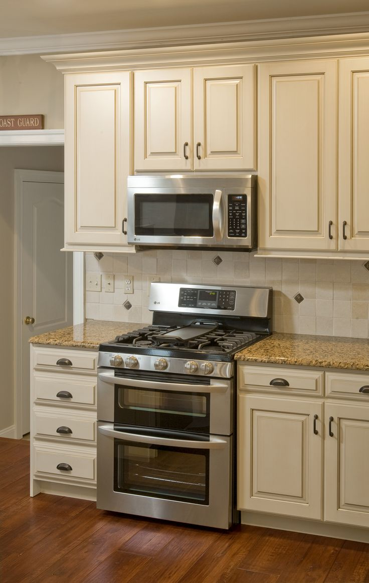 Restored Kitchen Cabinets - not pure white, more of an off white/beige