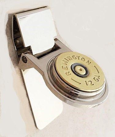 Gift for groom - gift for men - Bullet Money clip - shotgun shell - groomsmen gift - Bullet jewelry - custom money clip - gift for dad