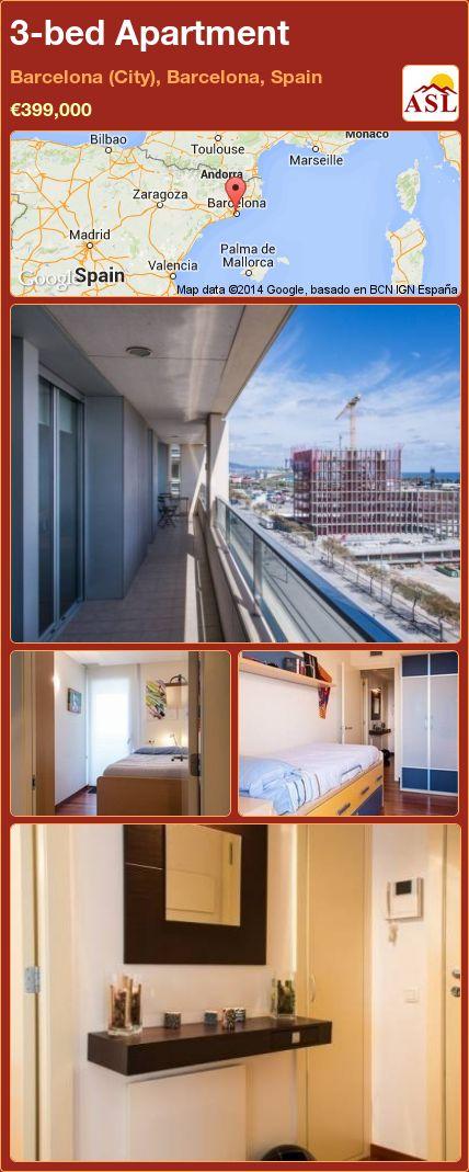 3-bed Apartment in Barcelona (City), Barcelona, Spain ►€399,000 #PropertyForSaleInSpain
