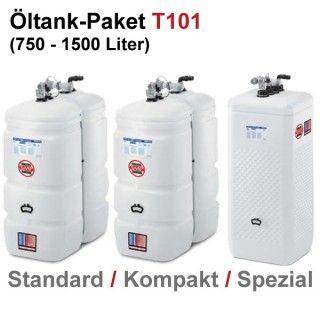 Moderne Systemlösung für Ihr Zuhause: SCHÜTZ Öl-Lagerbehälter Paket, Tank im Tank, Kunststoff, T101, 750 – 1500 Liter, div. Ausführungen, inkl. Zubehör