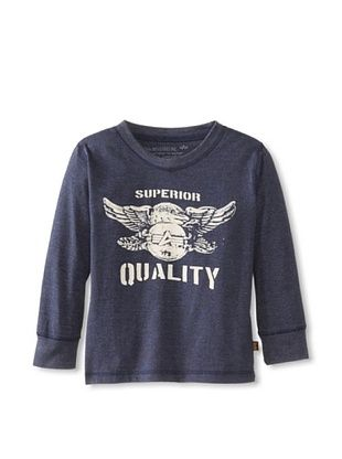 73% OFF Alpha Industries Boy's Superior Longsleeve Tee (Heather Navy)