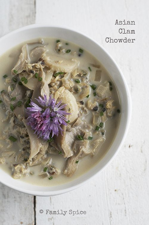 asian clam chowder water chestnut clam chowder clams oysters mushrooms ...