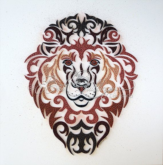 Beautiful quilling paper art named King of Animals is signed too. I created it from all of my heart and with love. ♥ Ideal for nature and animals