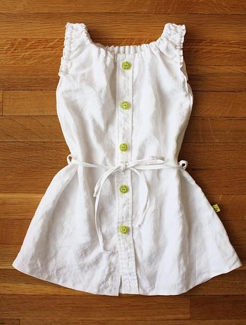 linen shirt dress--from men's shirt to girl's dress (dana-made-it.com, made, made blog, dana made it, dana willard)