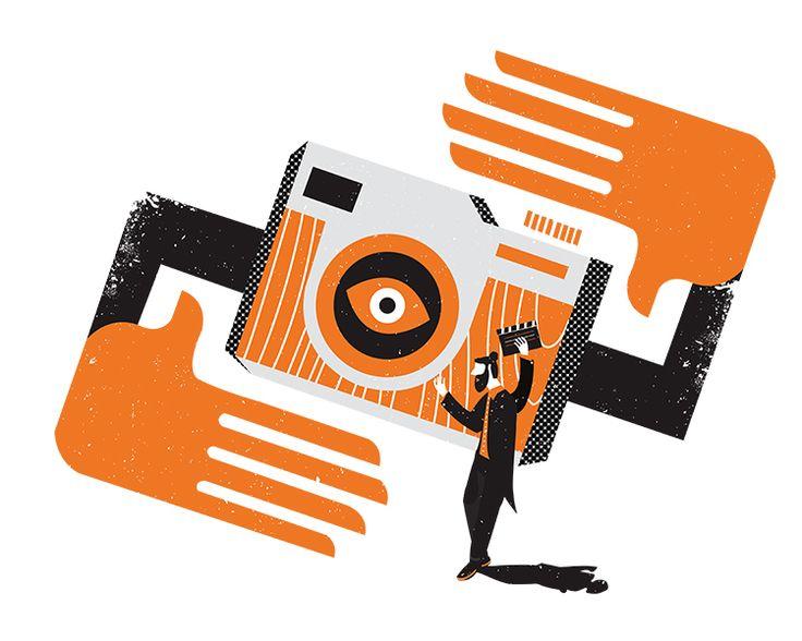 Marketing illustrations on Behance