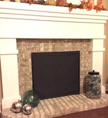 11 best images about summer fireplace cover on pinterest - Ideas to cover fireplace opening ...