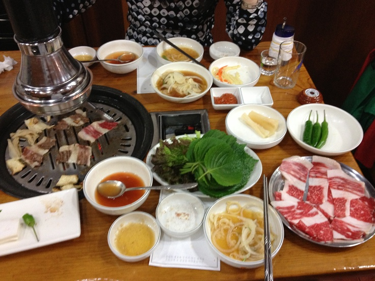 Dinner on the first night in Seoul.