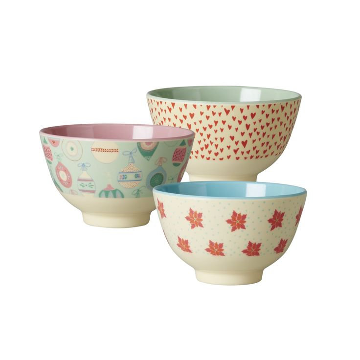 Small Christmas Bowls Melamine Bowl by Rice DK, Offerd by Modern Rascals. Fun, Durable Kids Cups and Dishes.