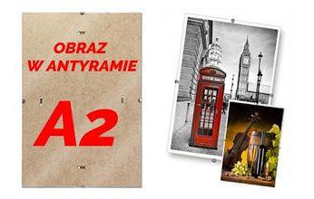 Dekoracyjny obraz w antyramie A2. 42 modele do wybrania.  Wysoka jakość wydruku na papierze fotograficznym.  Zobacz na http://bit.ly/antyramaA2