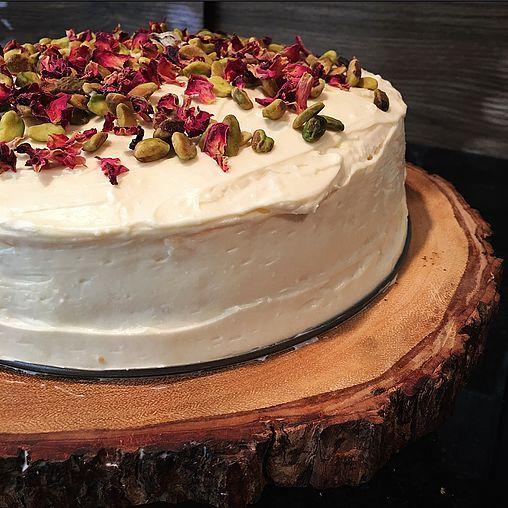 blendofspice   Ras Malai Cake (Ricotta Filled Cardamom Cake)