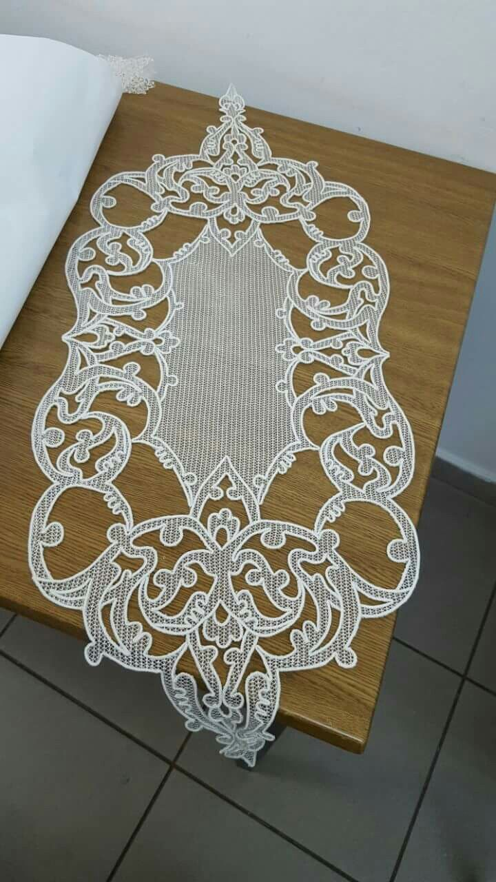 Outline embroidery designs for tablecloth - White Embroidery Mavis Cutwork Mantel Cloth Felt Lace Embroidery