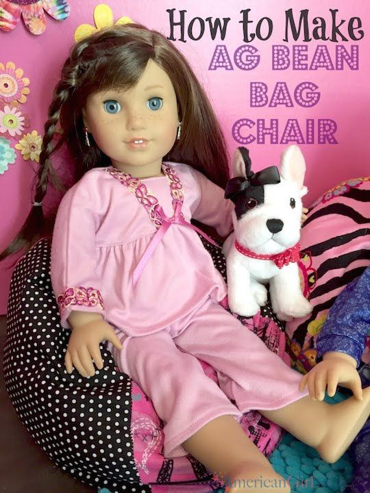 This video is about making an American Girl Bean Bag Chair. You can find all of the instructions at