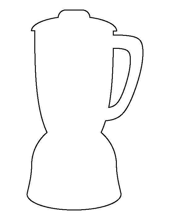 Blender pattern. Use the printable outline for crafts