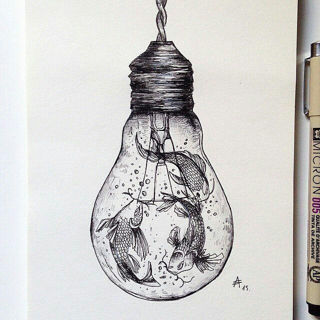 #Tbt - Koi lamp! Pen/pencil piece by @alfredbasha _____ by worldofpencils